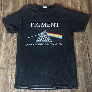 Black Mineral Wash Figment Disney T-Shirt